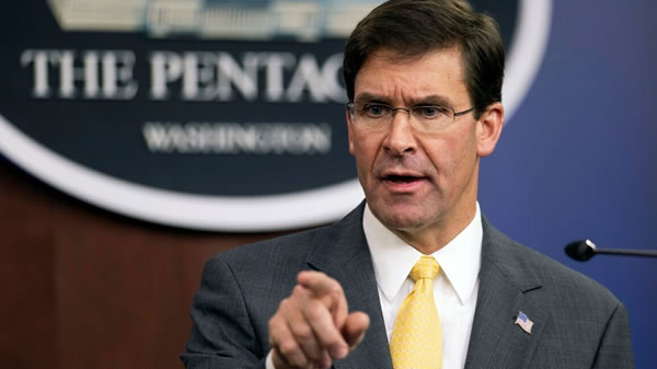 Secretario de Defensa, Mark Esper