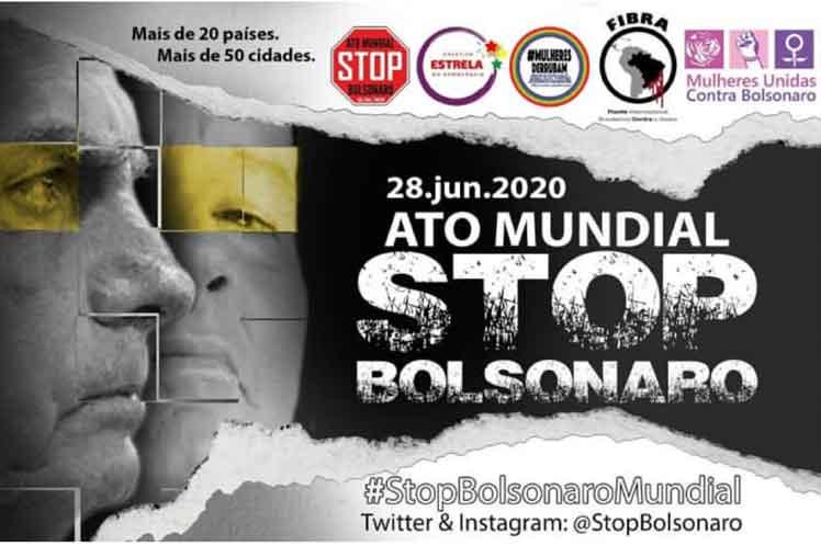 Movilización contra Bolsonaro este domingo en veintena de países