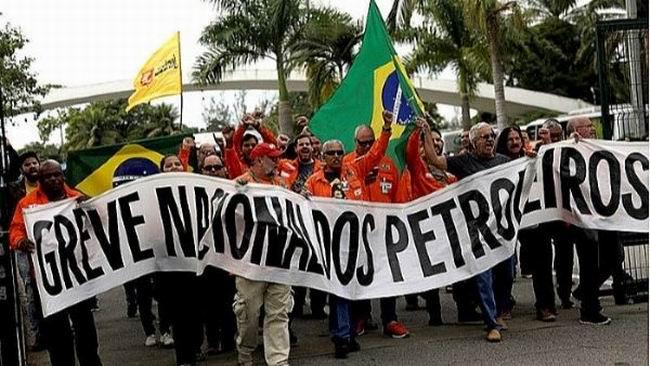 Paro de petroleros en Brasil
