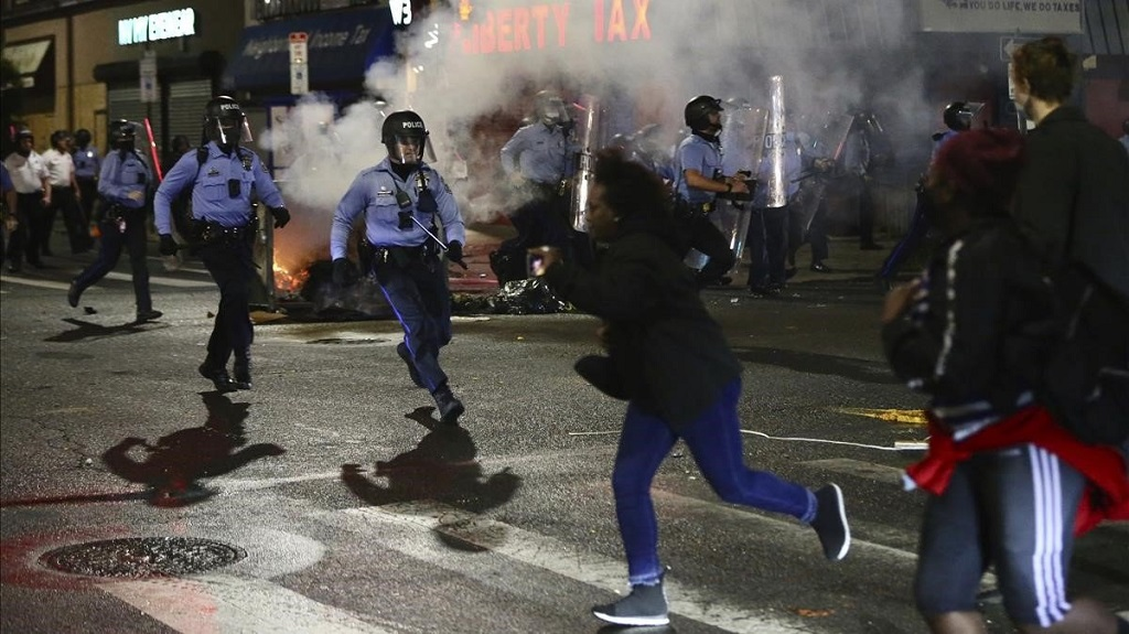 Se registran protestas en Filadelfia