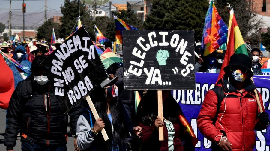 Bolivian protests against de-facto right-wing government intensify