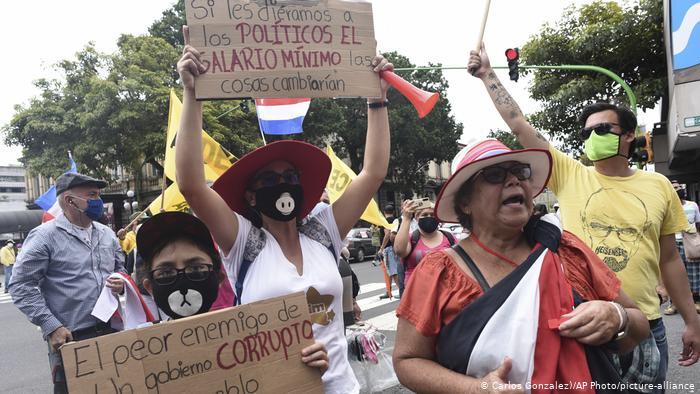 Continúan protestas en Costa Rica