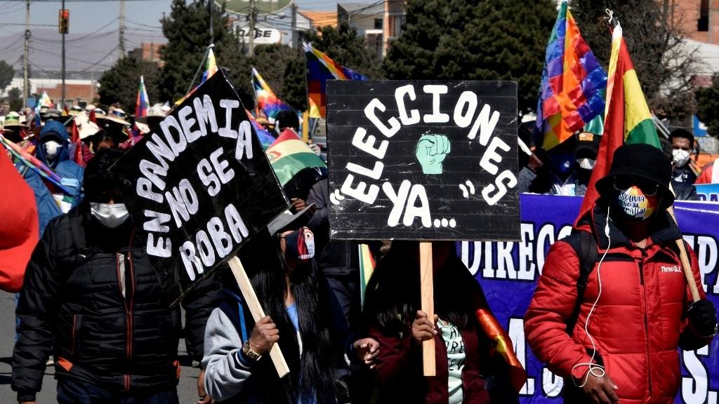 Manifestaciones en Bolivia por aplazamiento de las elecciones generales