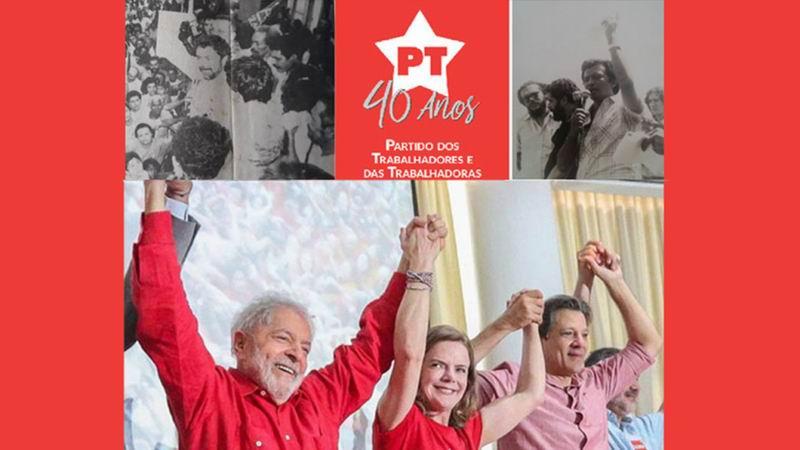 Celebra el Partido de los Trabajadores de Brasil sus 40 años