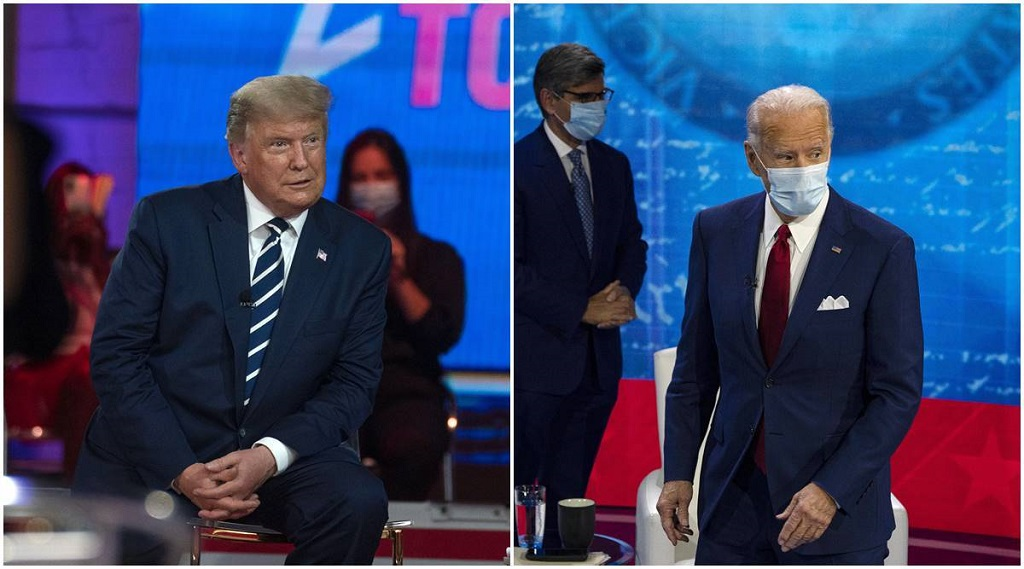 Foros simultáneos de Trump y Biden