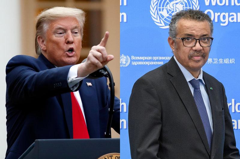 Anuncia Trump que su país pone fin a sus relaciones con la Organización Mundial de la Salud