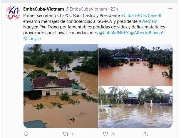 Envían Raúl y Díaz-Canel mensajes de condolencias a Vietnam tras el impacto de varias tormentas
