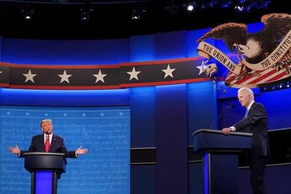 Acusaciones mutuas en el último debate presidencial de Estados Unidos