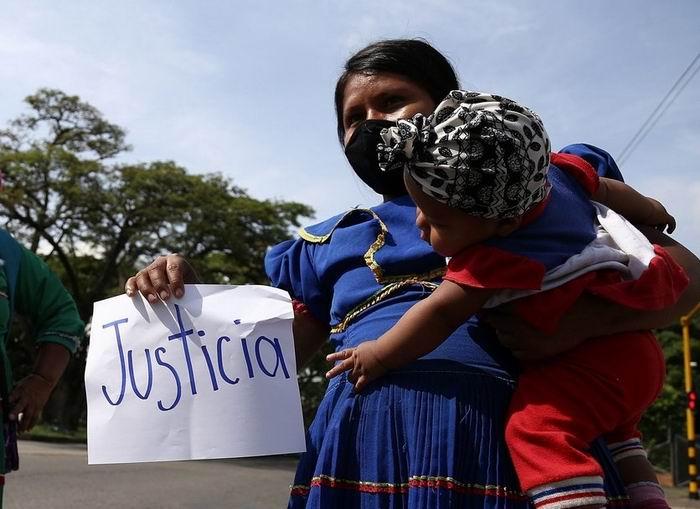 Esta semana hubo protestas en Bogotá, la capital, en contra de la violencia