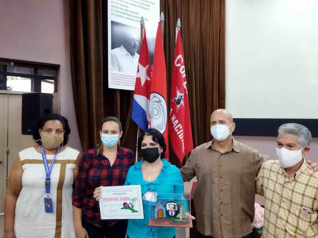 Entrega CDR Premio del Barrio al CIGB