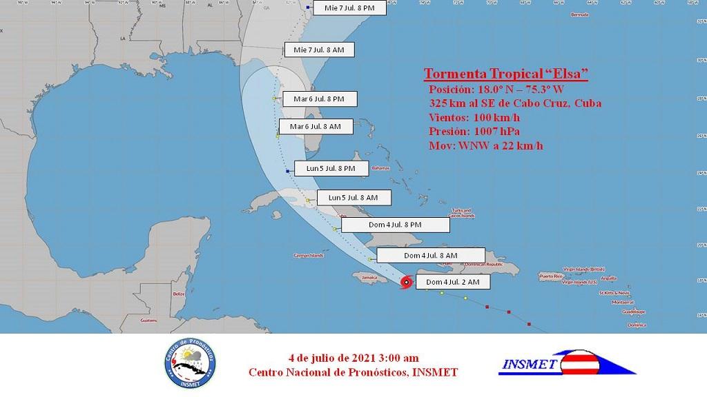 Aviso de ciclón tropical No. 12: Tormenta tropical Elsa