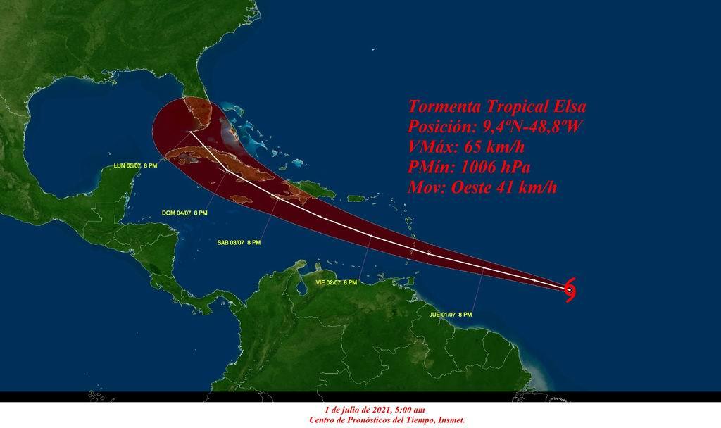 Aviso de ciclón tropical: se forma la tormenta tropical Elsa