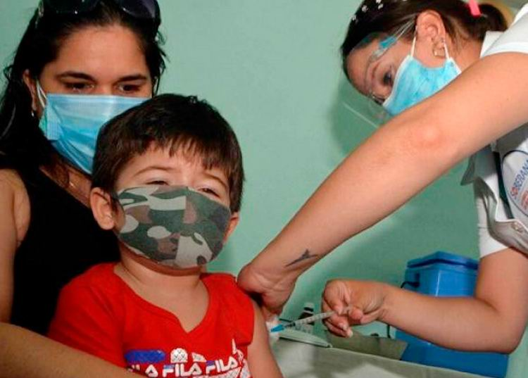 Over 465 thousand Children and Teenagers have got the first Dose of local Soberana 02 Vaccine