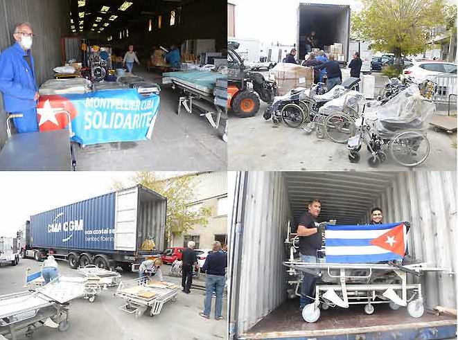France sends container with medical aid to Cuba