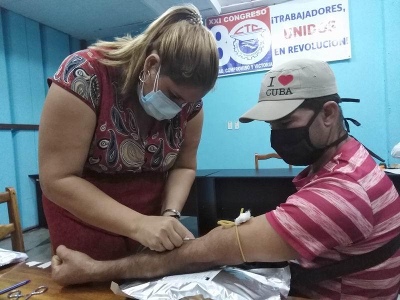 El movimiento obrero tunero donó sangre para combatir el Sars-Cov-2 (+Audio)