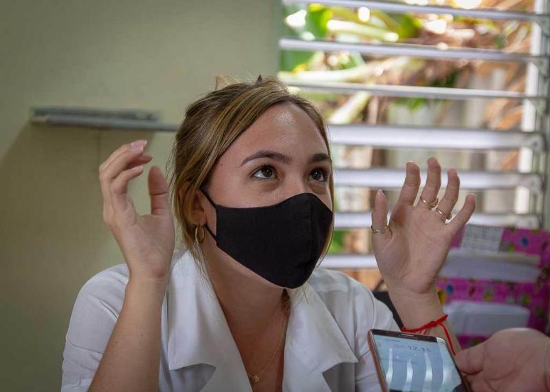 Estudiante de cuarto año de Medicina Daniela López Quintana