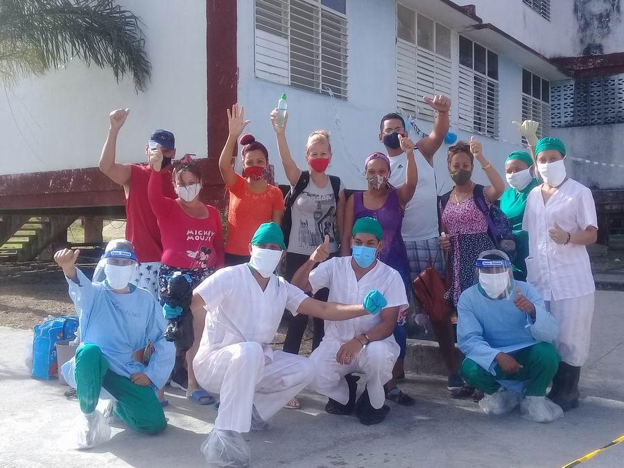Jorgen Labrada se refiere a su labor como voluntario en la zona roja, del campus universitario Blas Roca Calderío