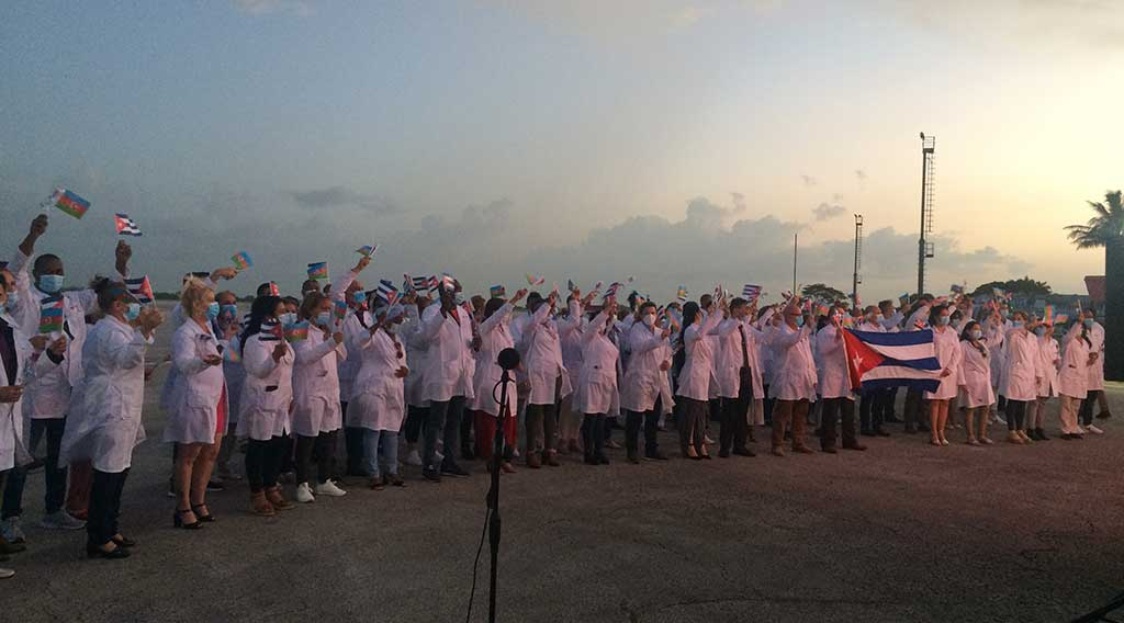 Regresa a Cuba Brigada Médica proveniente de Azerbaijan (+Audio)