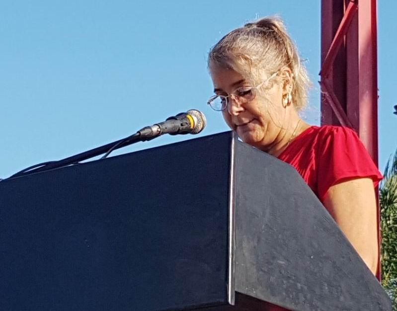 Secretaria General Buró provincial Sindicato de los Trabajadores de la Salud, (SNTS), Milagros Guerra Cruz, dio la bienvenida al movimiento obrero a los nuevos profesionales.