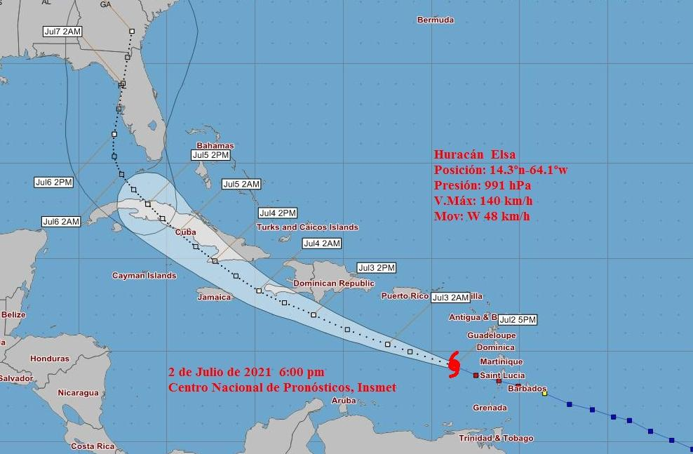 Aviso de ciclón tropical No. 6: Huracán Elsa