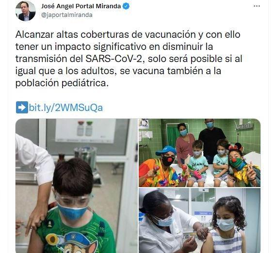 Vacunación infantil Cuba