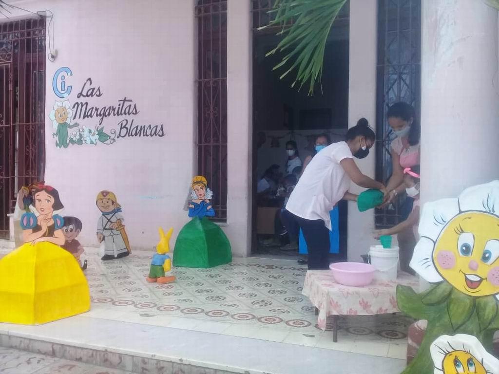 El círculo infantil Las Margaritas Blancas, de la ciudad del Golfo, es el sitio vacunal donde mayor número de niños debe recibir la primera dosis del inmunógeno cubano contra el nuevo coronavirus.