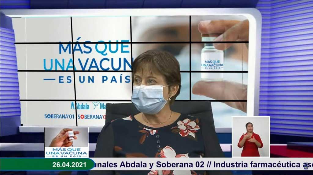 Directora de Investigaciones Clínicas del CIGB, doctora Verena Muzio