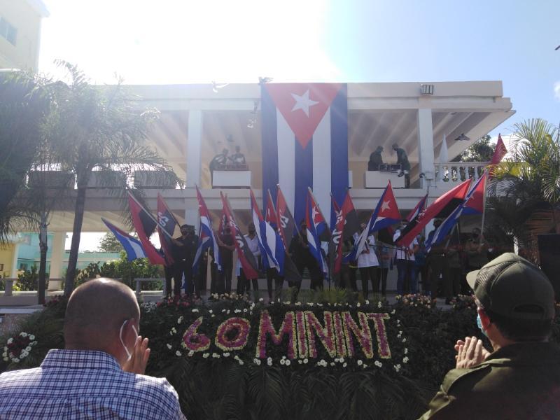 Los tuneros homenajearon a Fidel y a Raúl en el Aniversario 60 del Ministerio del Interior