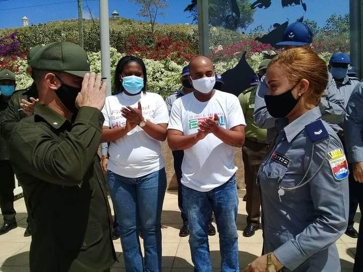 En Audio: Recibe Unidad Provincial de Patrulla la Bandera de Honor de la UJC