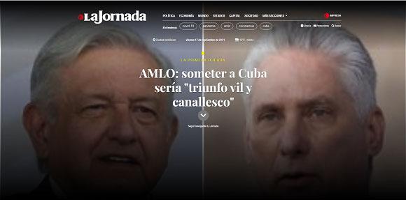 Resalta editorial de La Jornada visita de Díaz-Canel a México