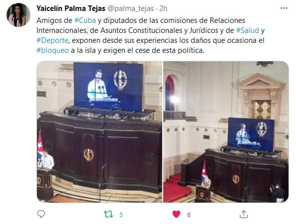 """""""Cuba frente a dos pandemias"""": Parlamento cubano exige levantamiento del bloqueo"""