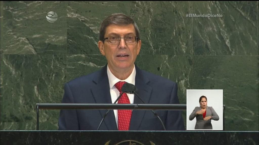 Bruno Rodríguez en la ONU: EE.UU. usó la COVID-19 como aliada en sus planes contra Cuba (+Audio)