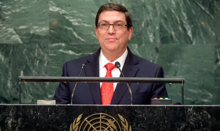 Canciller cubano llega a Estados Unidos para participar en la votación contra bloqueo