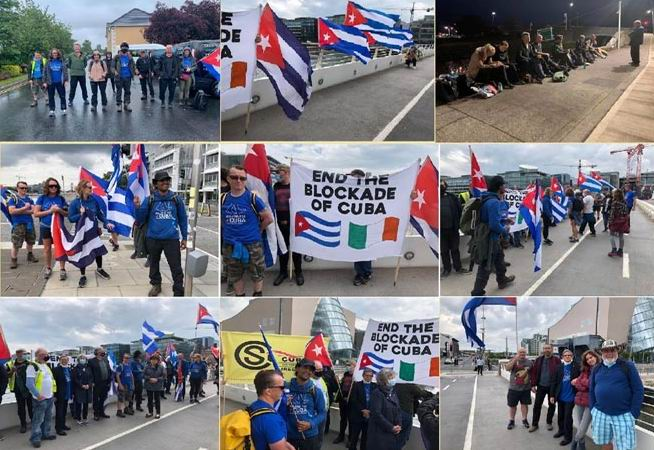 Irish walk for Cuba and against the U.S. blockade