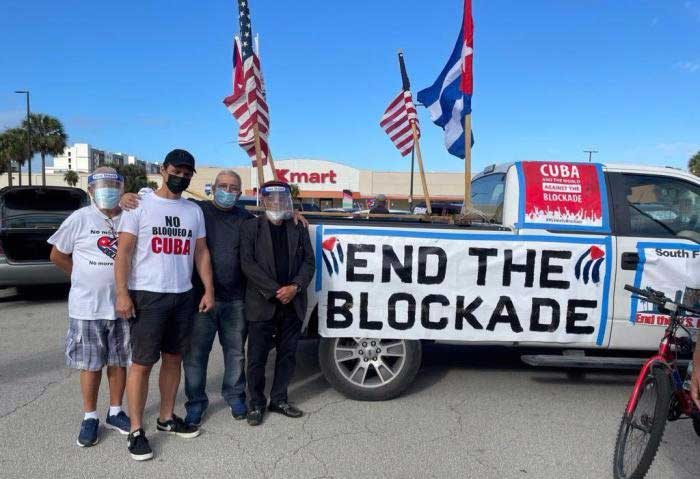Prosigue este domingo Caravana Mundial contra el bloqueo