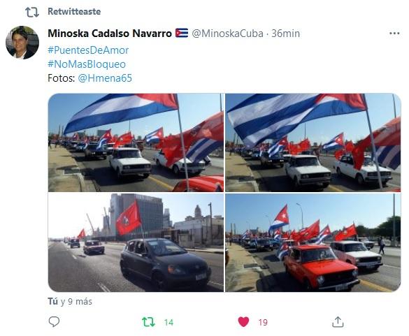 Caravana cubana contra el bloqueo recorre el litoral habanero
