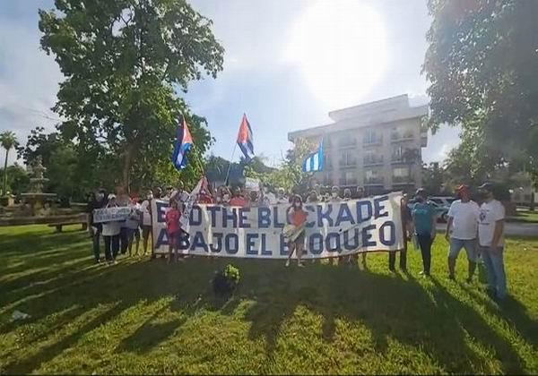 Concluye nueva caravana en Miami contra el bloqueo a Cuba