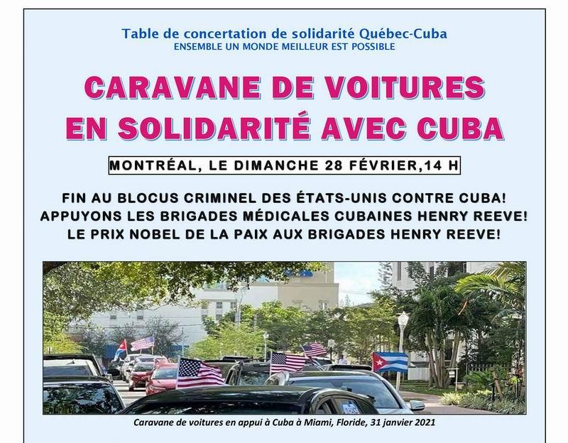 Caravana en Canadá exigirá fin del bloqueo a Cuba