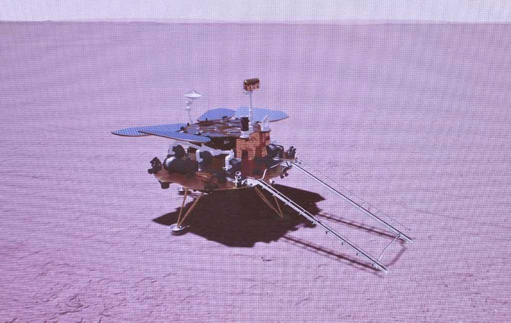China logra posar sonda espacial en Marte