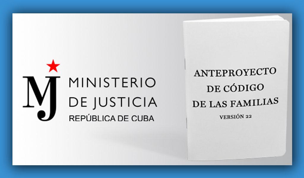 Disponible para descarga en PDF versión 22 del Anteproyecto del Código de las Familias