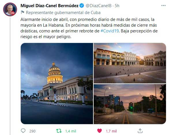 Advierten sobre medidas más restrictivas en La Habana por rebrote de COVID-19