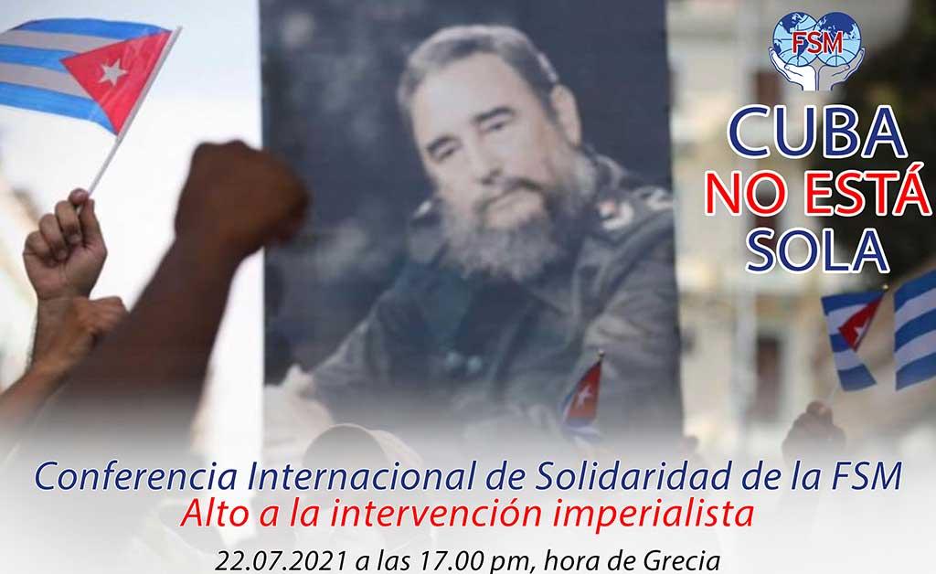 """""""Cuba no está sola"""": Conferencia Internacional de Solidaridad de la FSM (+Audio y Video)"""