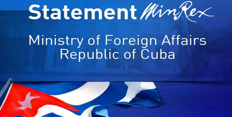Foreign Ministry issues declaration on the inclusion of Cuba on State Department list of States sponsors of terrorism