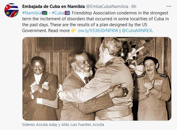 Amigos solidarios del mundo expresan apoyo a Cuba