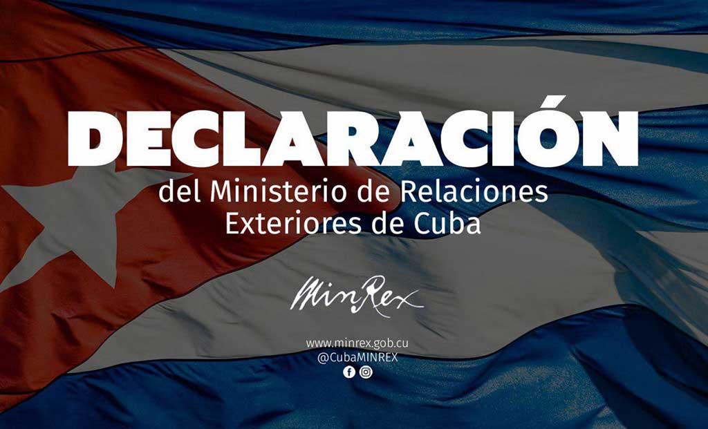 Cancillería de Cuba: Informe sobre DD.HH. del Departamento de Estado es arbitrario y unilateral