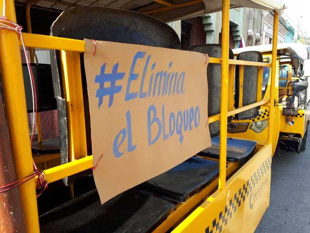En Matanzas y Holguín, el reclamo por el cese del Bloqueo contra Cuba
