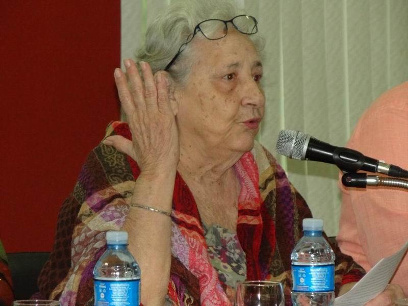 Premio Nacional de Ciencias Sociales y Humanísticas 1998, la filósofa y pedagoga Isabel Monal Rodríguez
