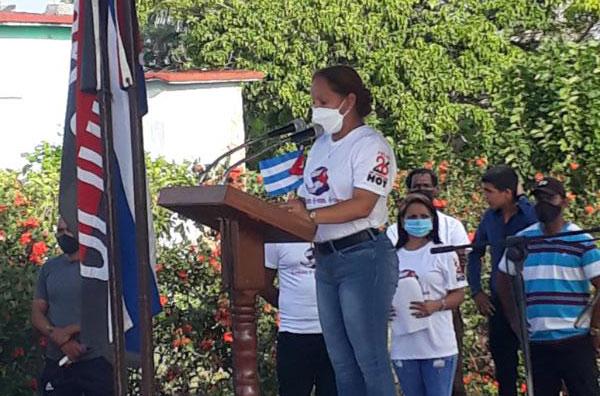Primera Secretaria del Partido en la Isla, Zunilda García Garcés.