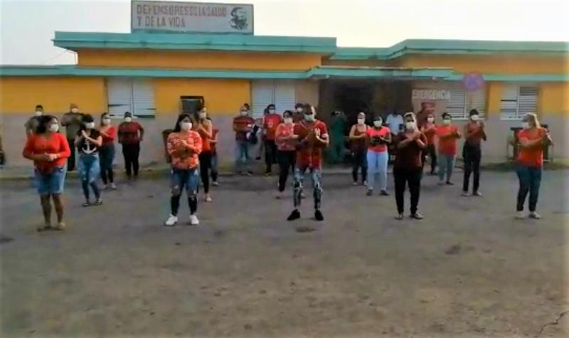 Inusual mañana en hospital militar de Matanzas (+Vídeo)