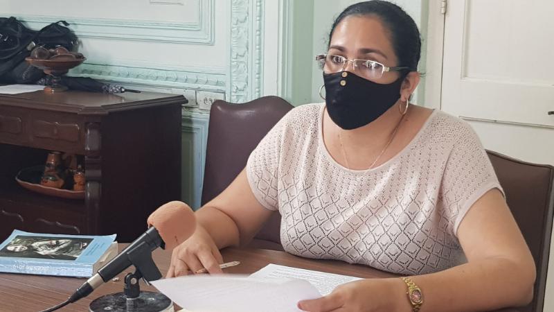 Osmayda Hernández Beleño, miembro del Secretariado Nacional de la FMC.